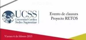 Evento de clausura del Proyecto RETOS